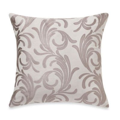 bed bath and beyond decorative throw pillows buy myop royal scroll square throw pillow cover in taupe