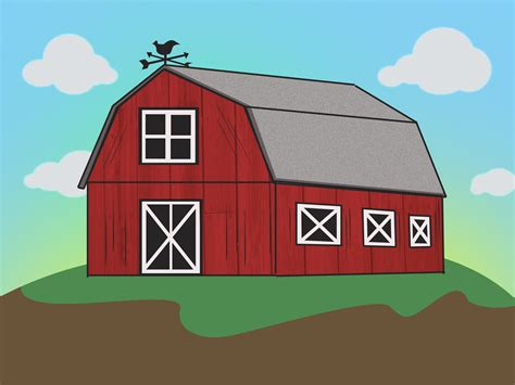 scheune zeichnen simple barn outline simple farm drawing barn