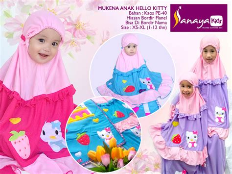 sanaya kids collection mukena anak mukena terusan
