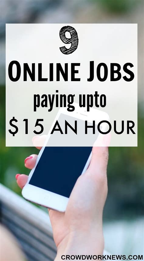 Online Jobs - 9 online jobs paying upto 15 an hour crowd work news