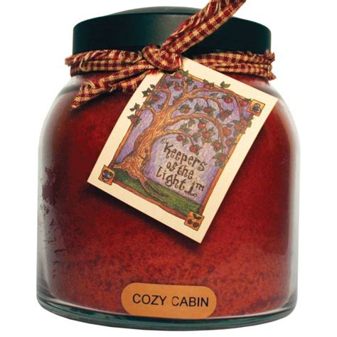 keepers of the light candles cozy cabin 34 oz papa jar keepers of the light candle by