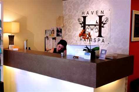 Haven Hair Salon Reception Desk New York By Surface Reception Desk Hair Salon