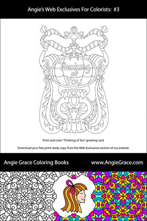 coloring books for sale cheap thinking of you card angie grace coloring books