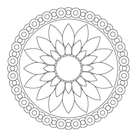 mandala coloring pages pinterest download simple flower mandala coloring pages or print