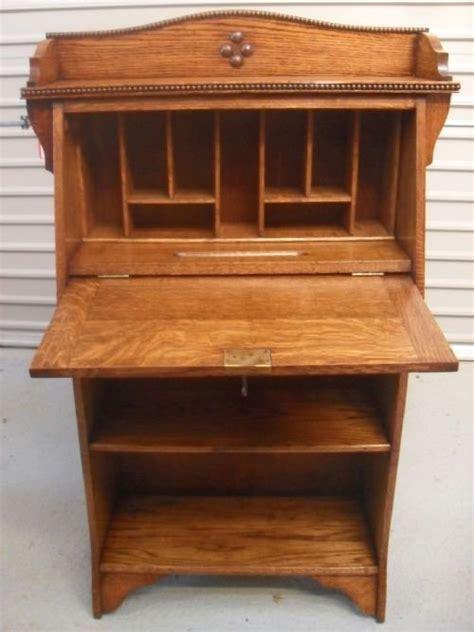 superb light oak writing bureau bookcase 128153 sellingantiques co uk