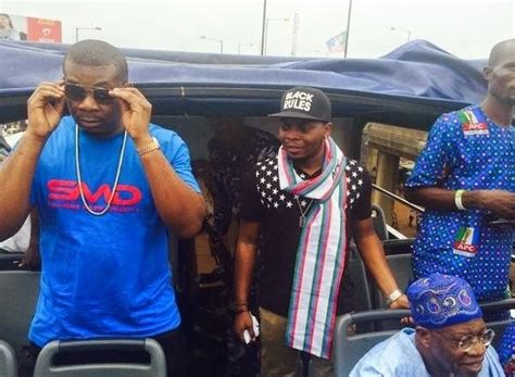 olamide don jazzy dammy krane and many more show up at apc s lagos presidential rally