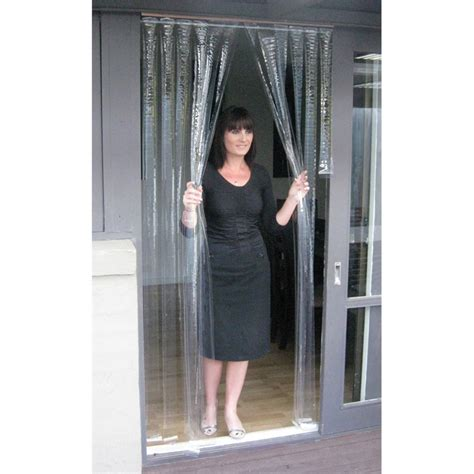 Zone hardware 900 x 2000mm 0 5mm clear pvc door curtain bunnings warehouse