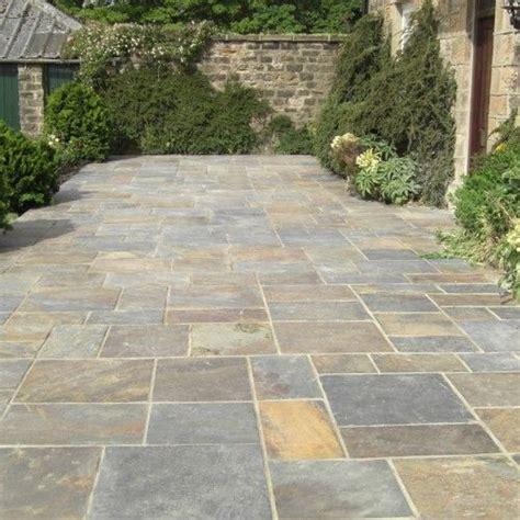 Bradstone Patio Slabs bradstone slate paving vijaya gold patio pack