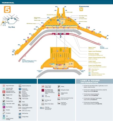 ord airport map o hare airport terminal 5 map