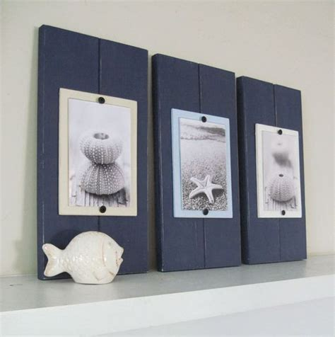 bathroom picture frame ideas this popular set of three plank frames with shades of