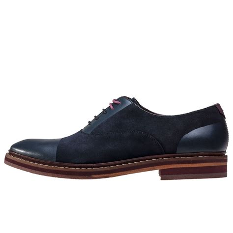 ted baker oxford shoes ted baker saskat oxford mens shoes in blue