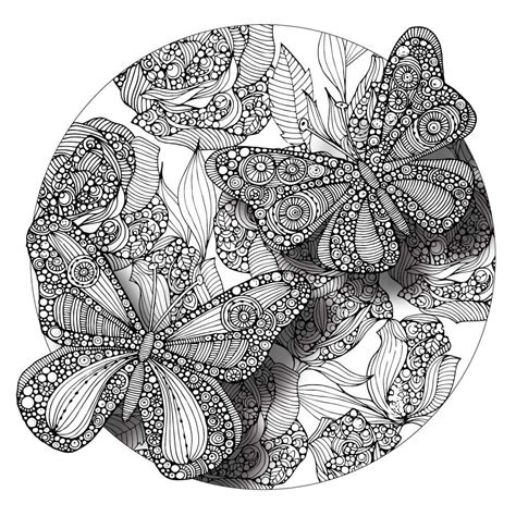 mandala coloring pages butterfly butterflies mandala colorme decal by valentina