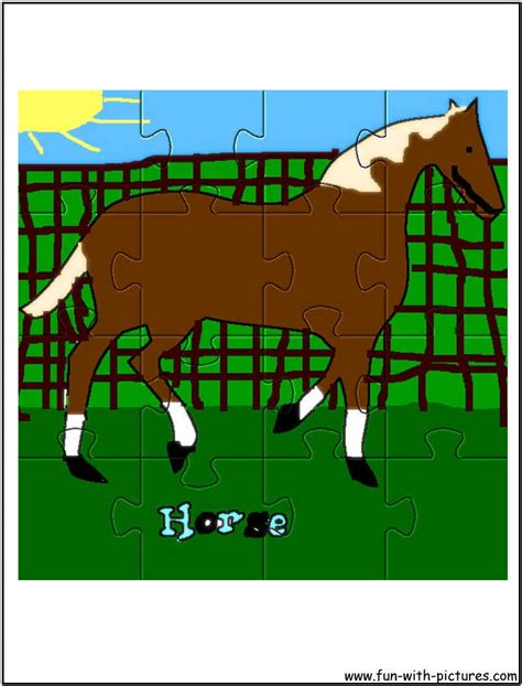 free printable horse jigsaw puzzles printable horse jigsaw