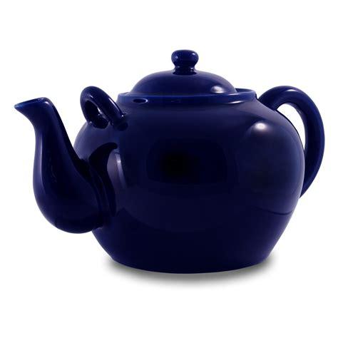 cobalt porcelain large teapot 75oz