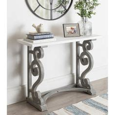 tanner  demilune console table   console table