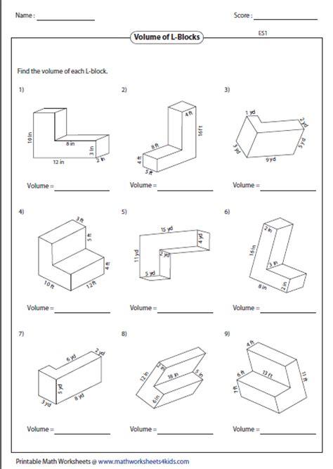 printable math worksheets volume of pyramid prisms worksheet wiildcreative