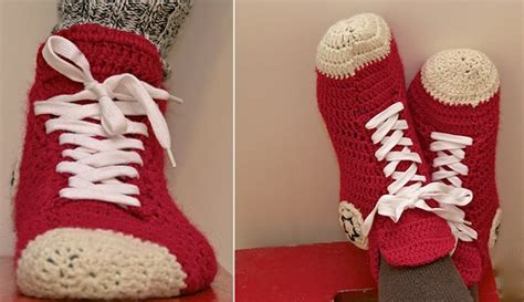 converse house shoes crochet converse slippers diy alldaychic