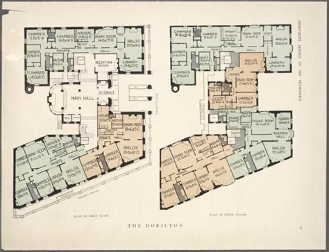 10 York Floor Plans by 10 Elaborate Floor Plans From Pre Wwi Nyc Apartments