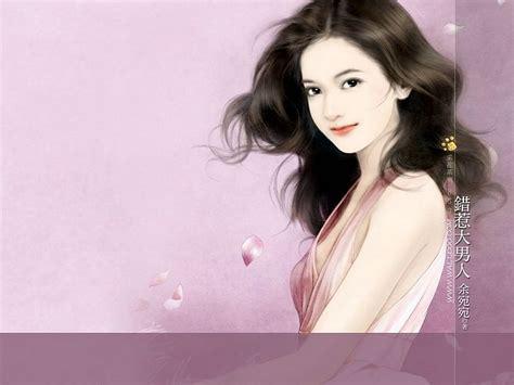 new chinese girls painting angelic sweet girl beautiful chinese girl painting