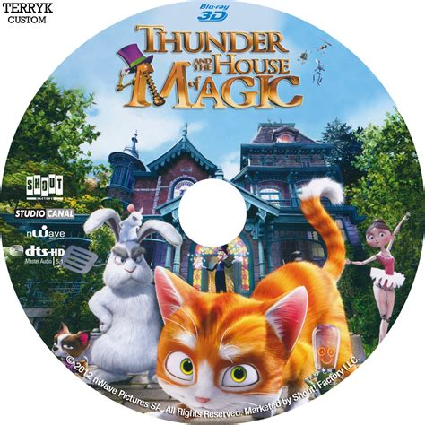 house of labels thunder and the house of magic 3d blu ray label 2013 custom