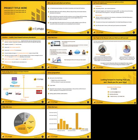 design view powerpoint modern bold powerpoint design for infomax by best design