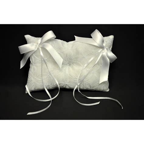 cuscino portafedi ricamato cuscino portafedi ricamato con doppio fiocco cm 16x11