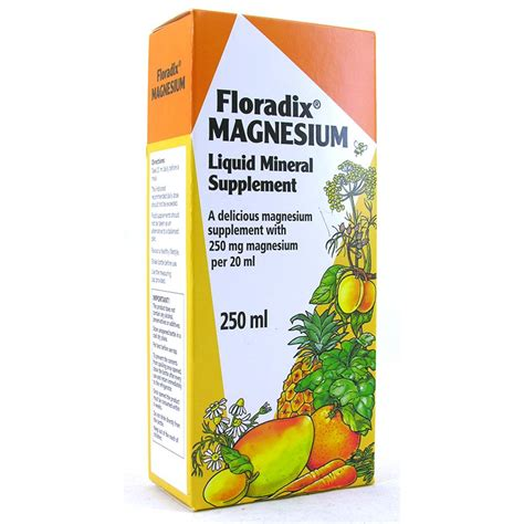 salus floradix magnesium liquid mineral supplement 250ml