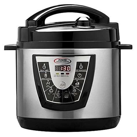 pressure cooker bed bath and beyond 6 qt electric power pressure cooker xl bed bath beyond