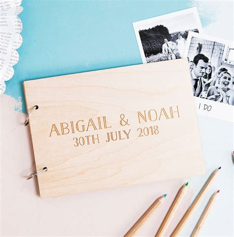 Wedding Wishes Guest Book by Personalised Wedding Wishes Guest Book By Clouds And