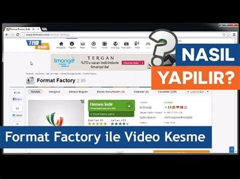 format factory youtube format factory ile video kesme youtube