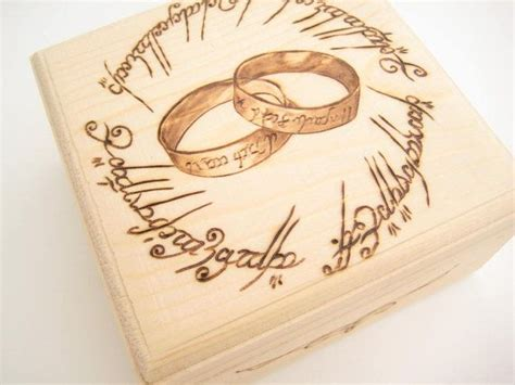 gifts for lord of the rings wedding ring box lord of the rings ring bearer box