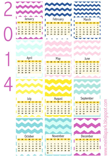 printable planner cards free printable 2014 chevron calendar cards ausdruckbarer