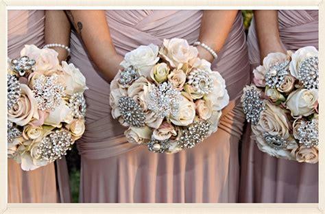 Wedding Bouquet Vintage Brooches by Vintage Wedding Fair Perth Perth