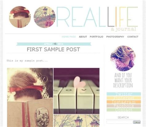 premade blogger template real life two columns