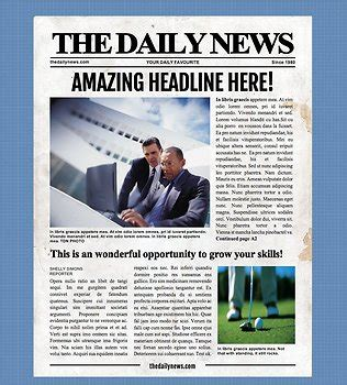 Newspaper Template Microsoft Word Image Collections Template Design Ideas Microsoft Newspaper Template