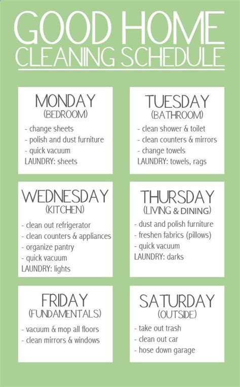 home cleaning tips best 25 weekly schedule ideas on pinterest