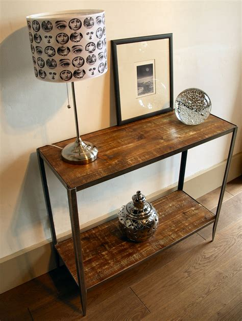 industrial style console table industrial style console table