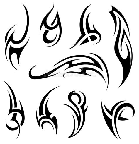 set of tribal abstract tattoos vector free download maori tattoo set stock vector illustration of creative