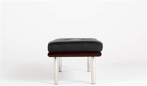 binder bench binder bench 52 quot w x 19 quot d black leather barcelona bench ben010368