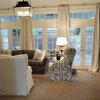 cote de texas slipcovers family room built ins transitional living room cote