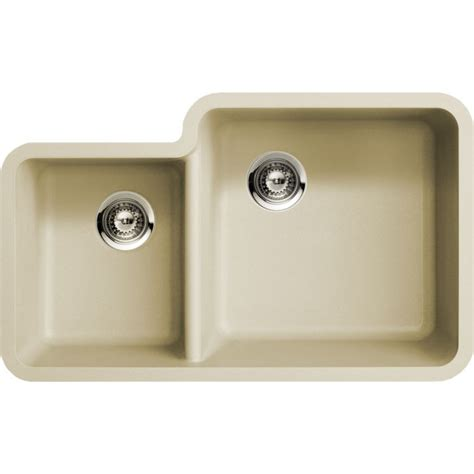 undermount kitchen sinks for 33 cabinet beige quartz composite 40 60 double bowl undermount
