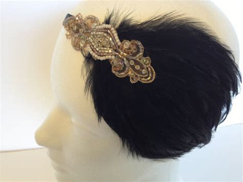 how to make a gatsby headpiece black fascinator 1920s great gastby headpiece gold flapper