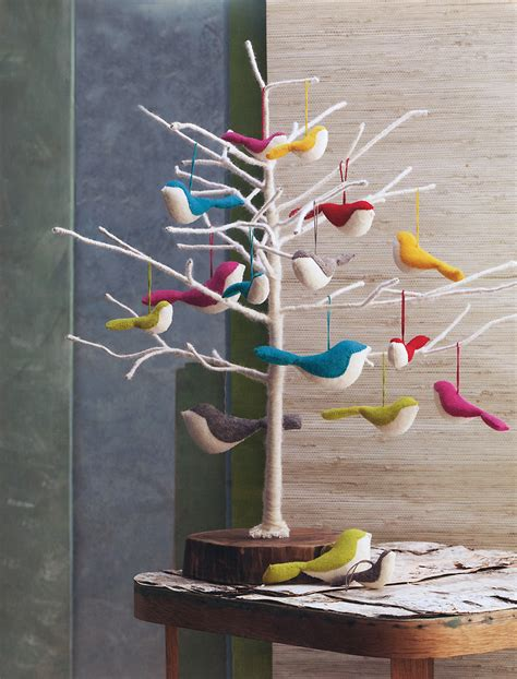 bird tree ornaments large felt bird ornaments bird series tree ornaments