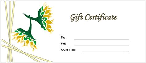 %name restaurant gift certificate template