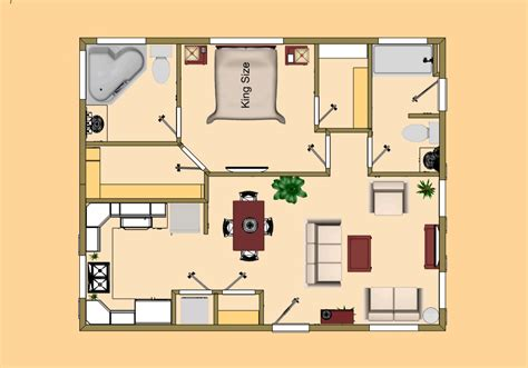 the cozy steel 1 1 3 4 720 sq ft small house floor plan