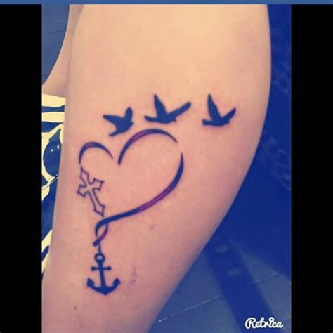 cross with bird tattoo cross anchor birds sister anchor