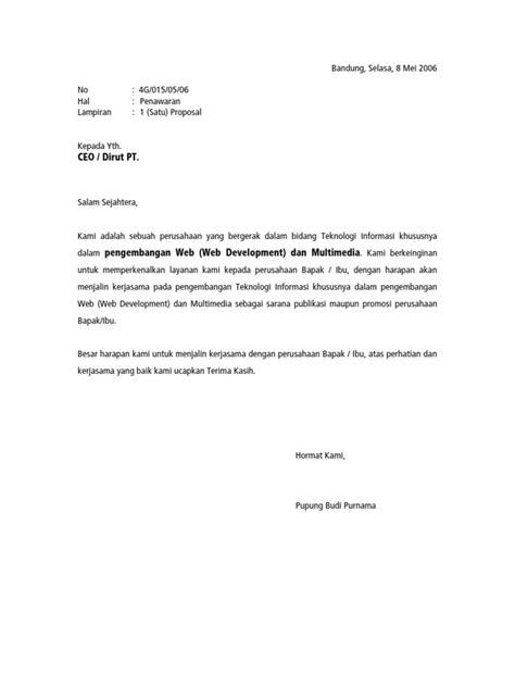 contoh surat penawaran