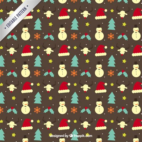 cute christmas pattern cute christmas pattern in hand drawn style vector free