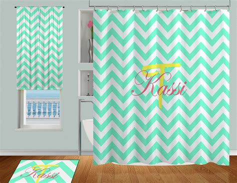 teal colored shower curtains college aqua or teal colored shower curtain personalized