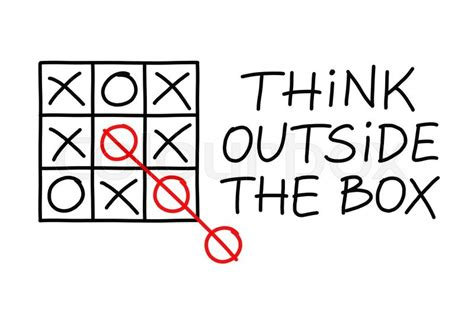 Think Outside Of The Box think outside the box tic tac toe concept on white